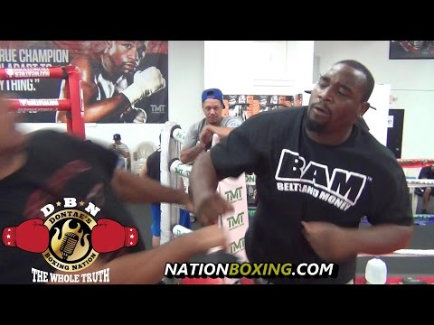 FIGHT BREAKS OUT AT MAYWEATHER GYM! TRAINER AND FIGHTER