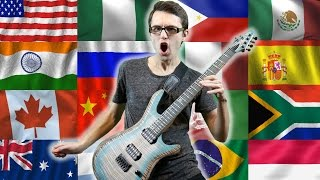 National Anthems Guitar Cover! (Shredding Around the World)