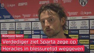 Vriends zag een sterk Sparta tegen Heracles: 'We domineren de wedstrijd'