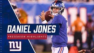 Giants QB Daniel Jones ENTIRE Preseason Game Highlights