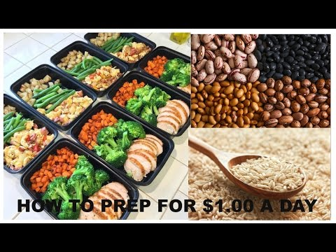 Video FULL WEEK OF MEAL PREP FOR $1.00/MEAL & UNDER 400 CALORIES