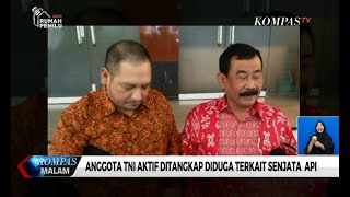 Anggota TNI Aktif Ditangkap Diduga Terkait Senjata Api