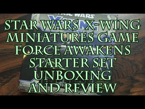 Star Wars X-Wing Miniatures Game Force Awakens Starter Set Unboxing and Review