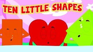 Ten Little Shapes | Monkeys Rhymes | Songs & Videos For Children - Kids Baby Club