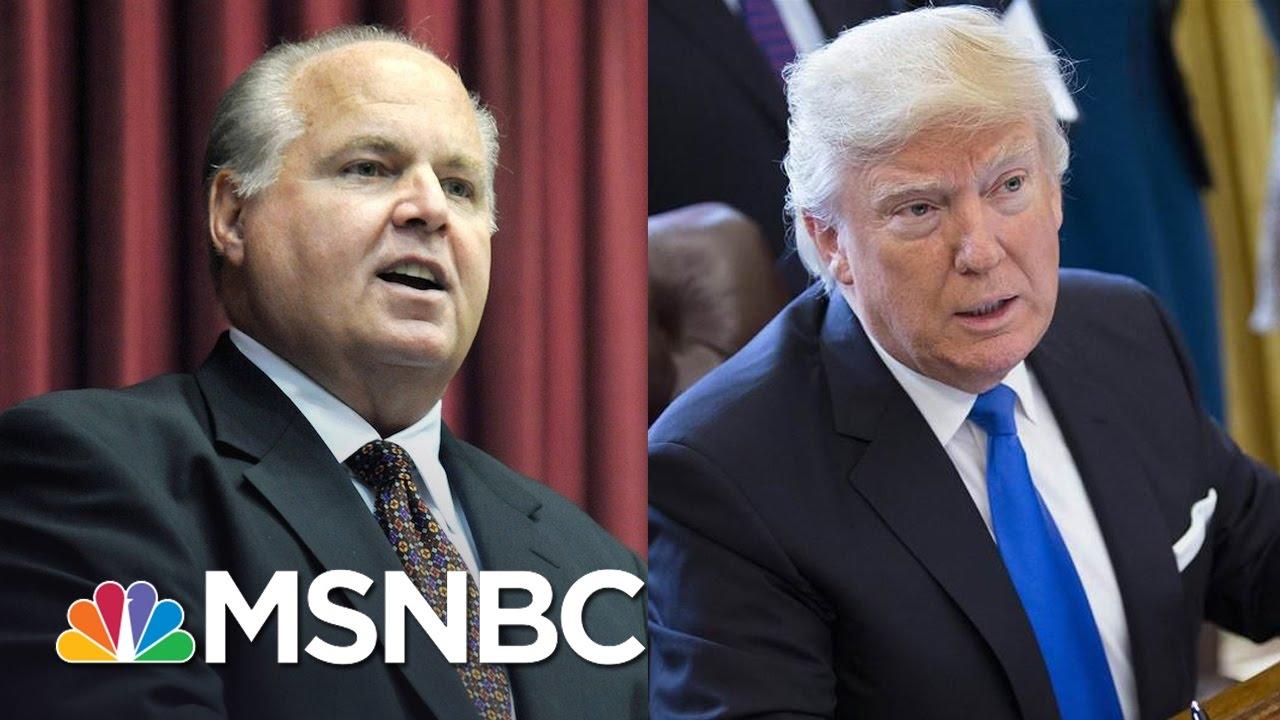 Rush Limbaugh Slams Donald Trump For 'Caving' On Border Wall | The Last Word | MSNBC thumbnail
