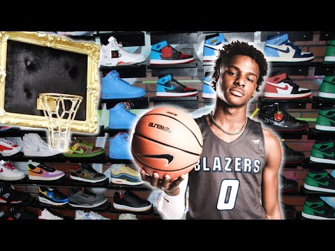 Bronny James Goes Shopping For Sneakers With CoolKicks