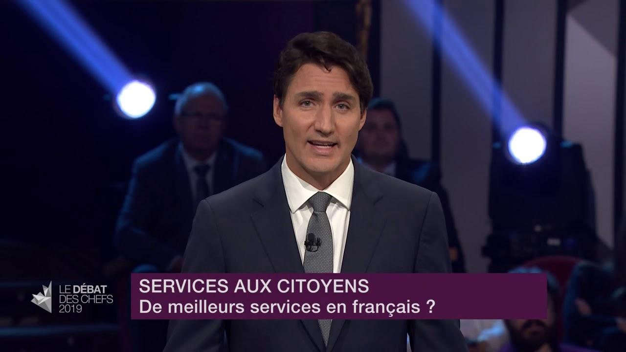Justin Trudeau répond à la question d'un citoyen sur les services en français