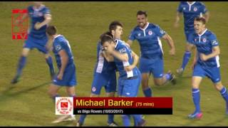 last time we faced Sligo Michael Barker scored this cracker Who'll get the first tonight
