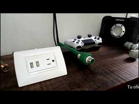 Como instalar toma corriente con cargadores usb fácil