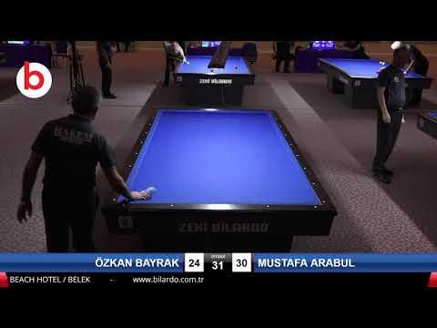 ÖZKAN BAYRAK & MUSTAFA ARABUL Bilardo Maçı - 2020 TK 1.ETAP ANTALYA-5.ÖN ELEME