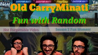 Old CarryMinati Fun with Random 😂 || Pubg Mobile Funny Carryislive