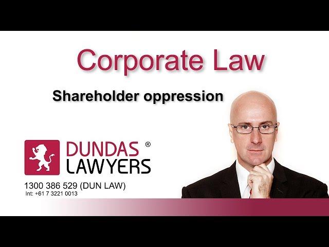 Shareholder oppression