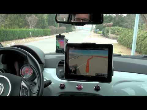 iPad Fahrzeug-Halterung von Brodit - Einbau in Abarth 500