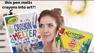 Melting CRAYONS INTO ART?! The COOLEST Pen EVER!