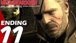 Metal Gear Solid 4 - Gameplay Walkthrough Part 11 - Ending & Final Boss Fight [1080p HD]