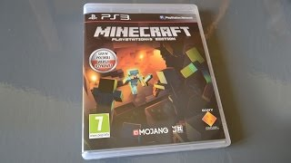 Minecraft PlayStation3 Edition   Unboxing & First Look   Vertez