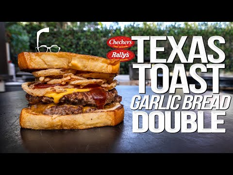 THE TEXAS TOAST GARLIC BREAD DOUBLE BURGER AT HOME | SAM THE COOKING GUY