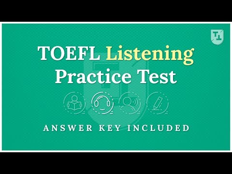 TOEFL Practice Test - The Listening Section - YouTube