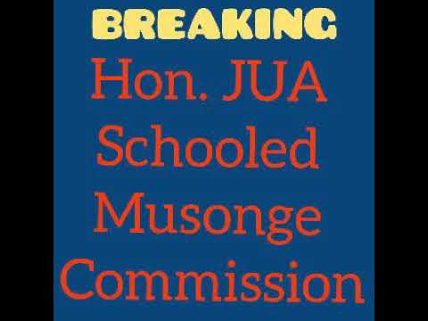 Hon. Jua Schooled Musonge Commission in Bamenda about Anglophone problem. Must listen