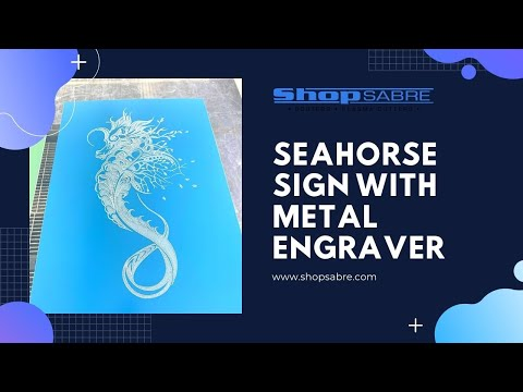 Seahorse Engraved Sign with Vibratory Plate Markervideo thumb