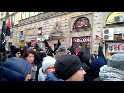 Raz, dwa, Antifa! Warszawa 11 listopada 2017