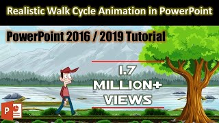 Easy Method of Creating Animation Scene in PowerPoint 2016 / 2019 Tutorial