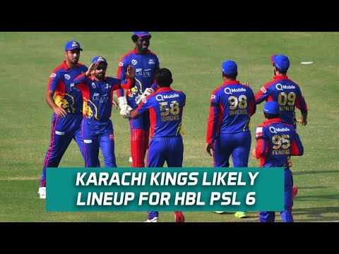 Karachi Kings likely lineup for HBL PSL 6