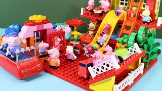 Peppa Pig Blocks Mega House Construction Sets - Lego Duplo House With Water Slide Toys For Kids #7