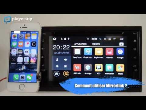 Autoradio 2 din : Une fonctionnalité double din- Android et bluetooth Auto chez Player Top
