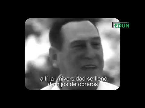 Video: Perón: 22 de noviembre se estableció la Enseñanza Universitaria