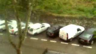 preview picture of video 'Fuerte granizada en carabanchel'