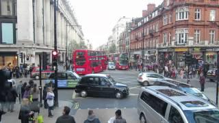 preview picture of video 'London mit dem Doppeldeckerbus durch die Oxford Street'