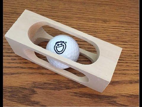 Golfball im Holzklotz - Rätsel für Groß und Klein