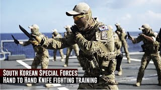 South Korean Special Forces / Hand to Hand Knife fighting training