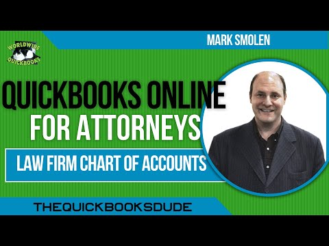 QuickBooks Online Attorneys Chart Of Accounts For A Law Firm