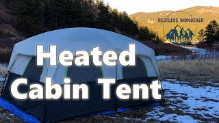 Heated Cabin Tent | Camping The Winter Solstice