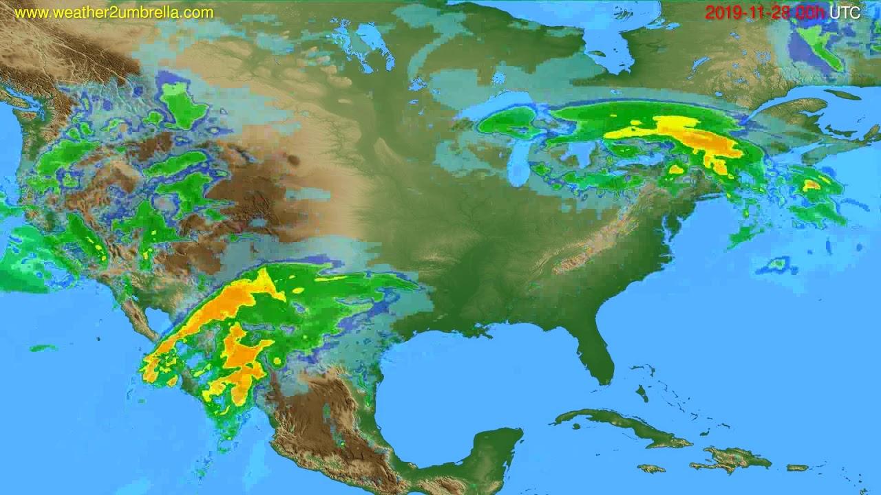 Radar forecast USA & Canada // modelrun: 12h UTC 2019-11-27