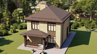 Проект дома 128-D, Площадь дома: 128 м2, Размер дома:  8x11,9 м