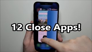 iPhone 12 How to Close Apps & Multiple Apps!