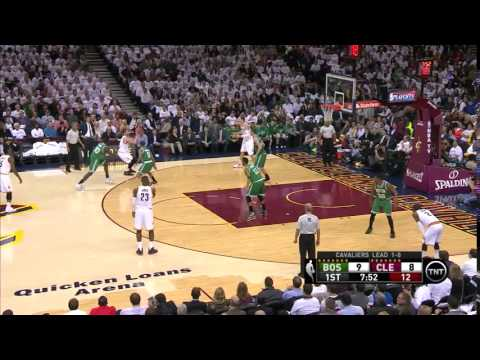 NBA, Playoff 2015, Cavaliers Vs. Celtics, Round 1, Game 2, Move 8, Kevin Love, AirBall