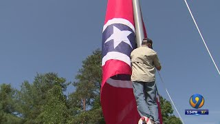 Massive Confederate Flag Raised Over I-40 In Burke County