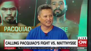 Calling Pacquiao's fight vs. Matthysse