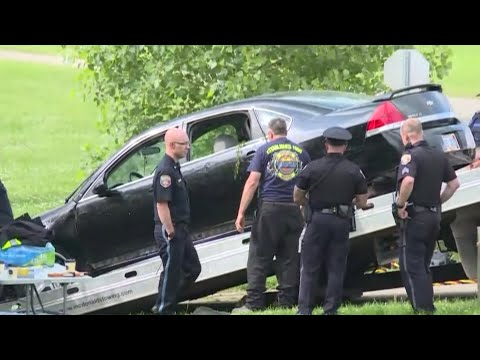 Authorities say they've found the body of a woman and her 9-year-old twin daughters after she intentionally drove a car carrying them into a southwestern Michigan river. (June 18)