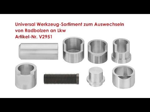 ViGOR Universal Werkzeug-Sortiment zum Auswechseln von Radbolzen an Lkw V2951