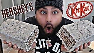 DIY GIANT HERSHEY'S COOKIES N' CREAM KIT KAT BAR!!