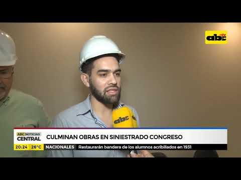 Culminan obras en siniestrado congreso