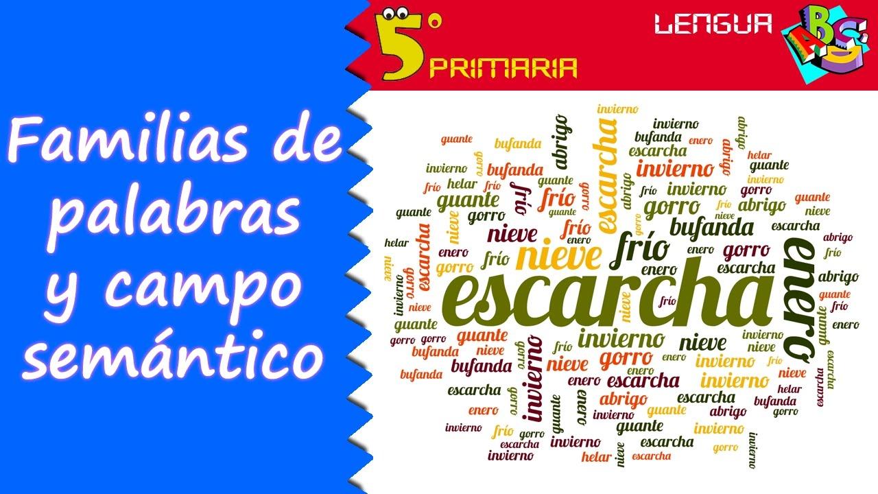 Familias de palabras y campo semántico. Lengua, 5º Primaria. Tema 9