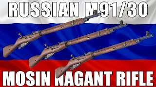 Russian M91/30 Mosin Nagant Rifle, Bolt Action 7.62x54R -  Poor to Fair - Grade 3 and 4 Condition