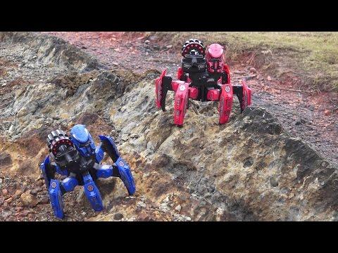 Battle of Robots 6 legged Dart Shooting Armored Battle Robots Full Review