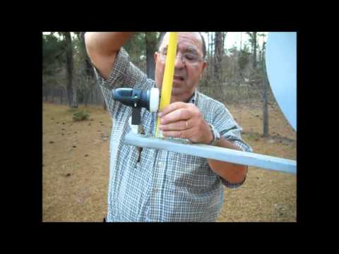 How to convert and install a old trashed DTV satellite dish to a FTA Dish